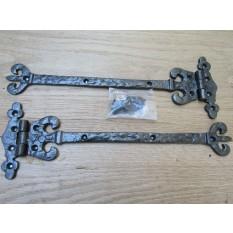 Pair of Coronet Hinges Antique Iron