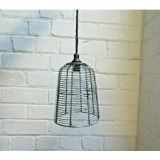 Retro Wire Bird Cage Shade Antique Iron