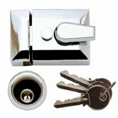 Architectural Front Door Narrow Night Latch Chrome