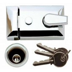 Architectural Front Door Standard Night Latch Chrome