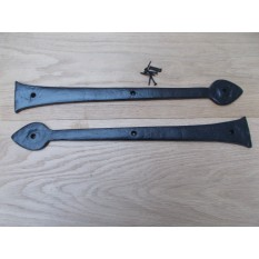 "Pair of Hinge fronts Black Antique 18"" Arrow Head"