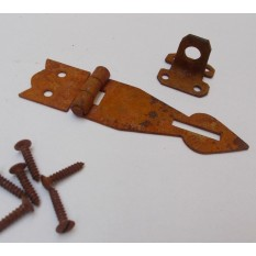 Hasp And Staple Arrow Head Rust