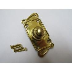 Art Nouveau Bell Push Polished Brass