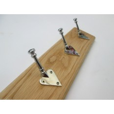 Chrome Arts & Crafts Coat Hook Rail