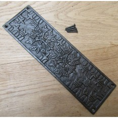 Antique Iron Aztec Finger Plate