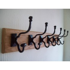 Black Antique Malvern Coat Hook Rail