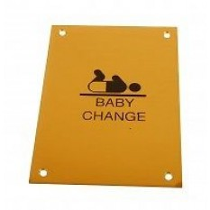 baby changing room sign