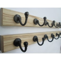 Black Antique Ball End Coat Hook Rail