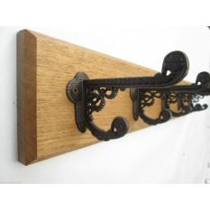 Antique Iron Basildon Coat Hook Rail