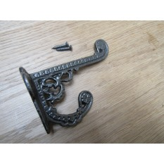 Pack Of 5 Basildon Coat Hooks Antique Iron