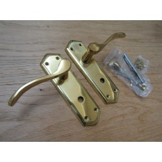 Bathroom Lever Door Handle Turin Polished Brass