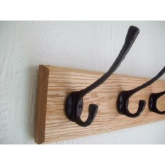 Black Hammered Hook Rail