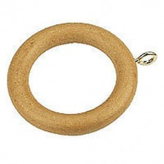 Beech Wood Rings with Brass Eyelets