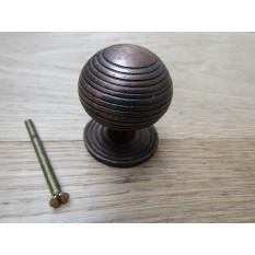 Cast iron beehive cabinet knob antique copper