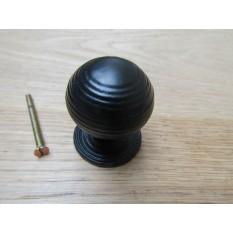 Cast iron beehive cabinet knob black antique
