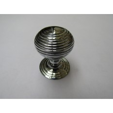 Beehive Reeded Cabinet Knob Polished Chrome