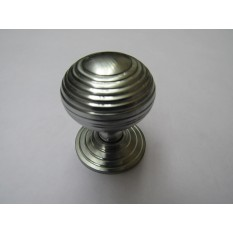 Beehive Reeded Cabinet Knob Satin Chrome