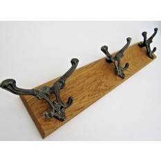 Antique Iron Belvoir Hook Rail