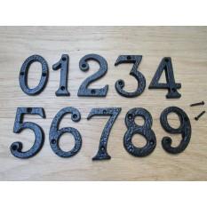 "3"" Black Antique Number 8"