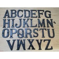 """3"""" Black Antique Letter E"""