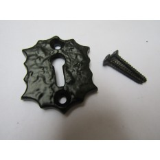 Jagged Edge Open Escutcheon Black Antique