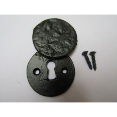 Round Covered Escutcheon Black Antique