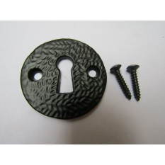 Round Open Escutcheon Black Antique