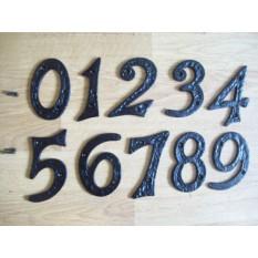 Black Antique Iron House Door Numbers