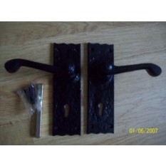 Black Antique Lever Lock Handle