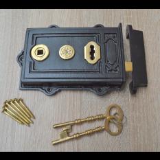 Cast Iron Davenport Rim Lock Black Antique