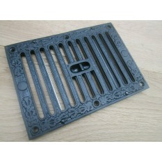 Large Black Ornate Vintage Sliding Vent