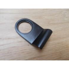 Plain Door Cylinder Pull Black