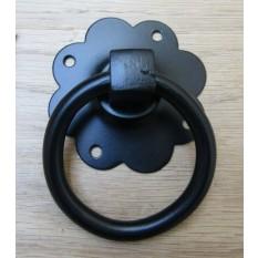Ring Pull Handle Black Plain