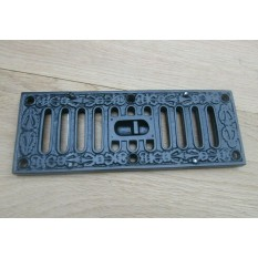 Small Black Ornate Vintage Sliding Vent