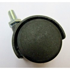 Furniture Swivel Wheel Black Bolt fix/threaded