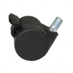 Furniture Swivel Wheel Black Bolt fix + Brake