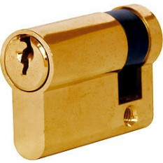 6 Pin Euro Cylinder Lock 45mm Brass