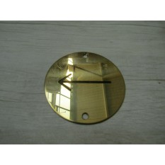 Circle Brass Direction Arrow Door Sign