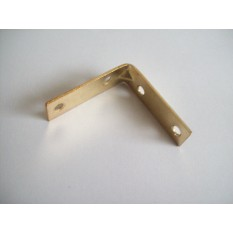 Pack Of 10 40mm Corner Brace Brass Plated