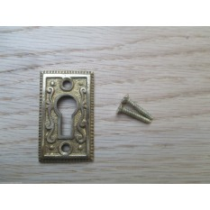 Georgian Ornate Escutcheon Polished Brass