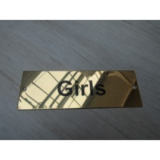 Rectangular Brass Girls Door Sign