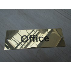 Rectangular Brass Office Door Sign