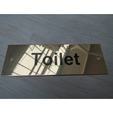 Rectangular Brass Toilet Door Sign