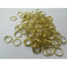 Pack Of 100 Brass Split Rings
