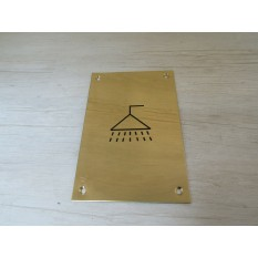 "6"" Brass Shower Door Sign"