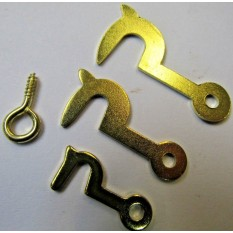 Pack of 50 Brass Side Hooks Large
