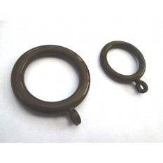 Brown Plastic Drapery Rings with Eyelet