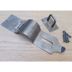 Hasp And Staple Bull Nose Antique Iron