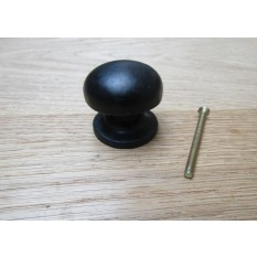 Burlington Mushroom Cabinet Knob Black Antique