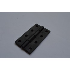 "4"" Black Steel Butt Hinges (Pack of 2)"